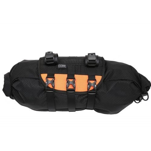 Пакинг сумка на руль COW ripstop черный с оранж