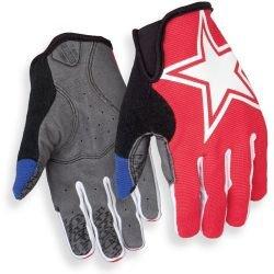 Велоперчатки с пальцами Giro DND Jr черв./зірка, S
