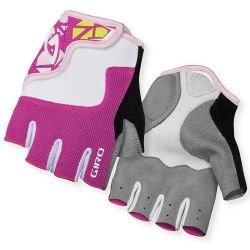 Велоперчатки Giro Bravo Jr розово-белый