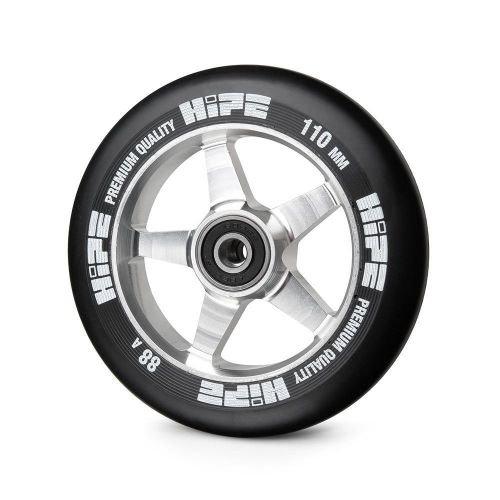 Колесо LMT09 110мм серебро/черный