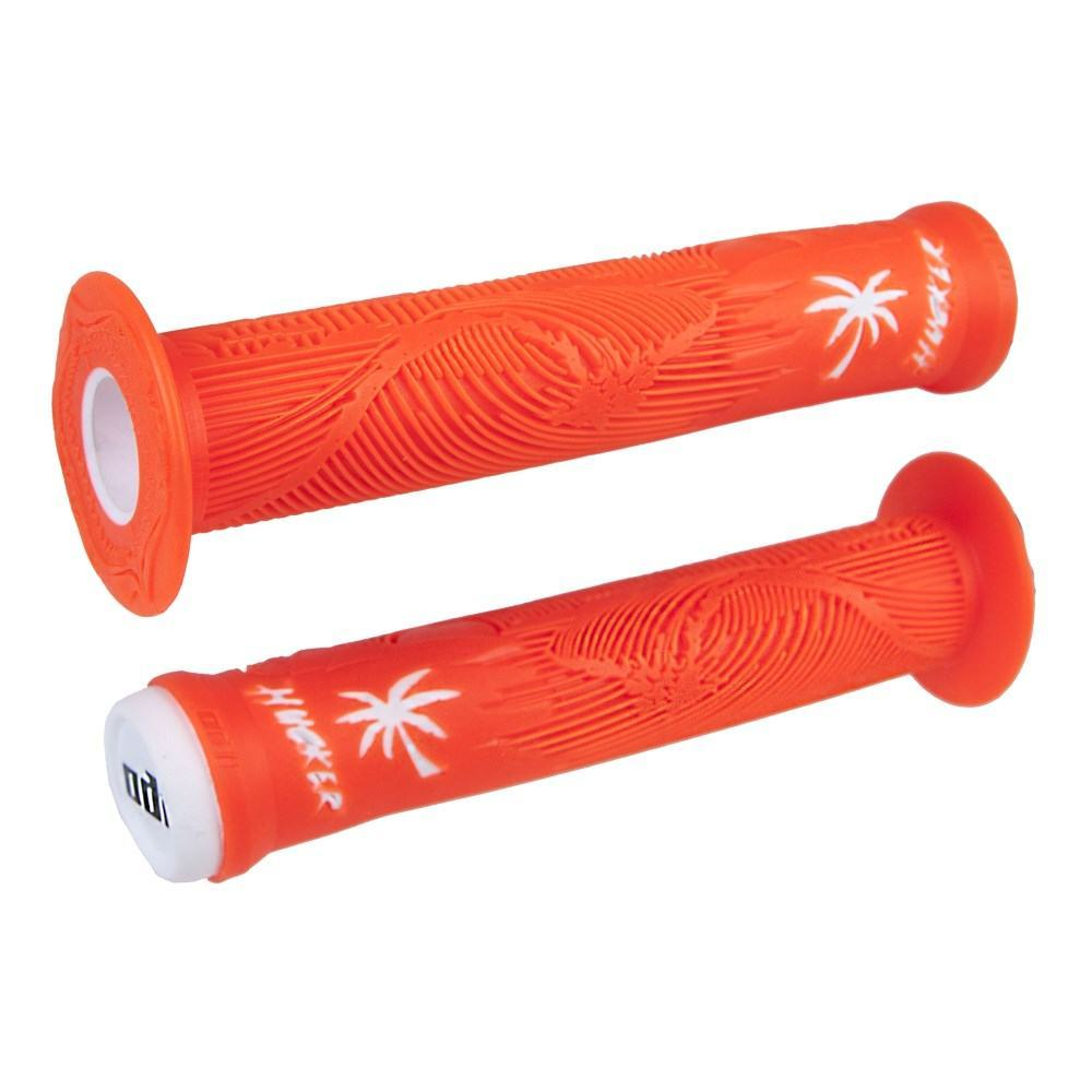 Грипсы Hucker Signature, 160mm, w/Flange, Orange/White