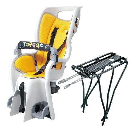 """Сиденье детское Topeak Babyseat II, с / багажн. 26 """", 27.5, 700C, 3.13кг сид. / 580г багажн"""