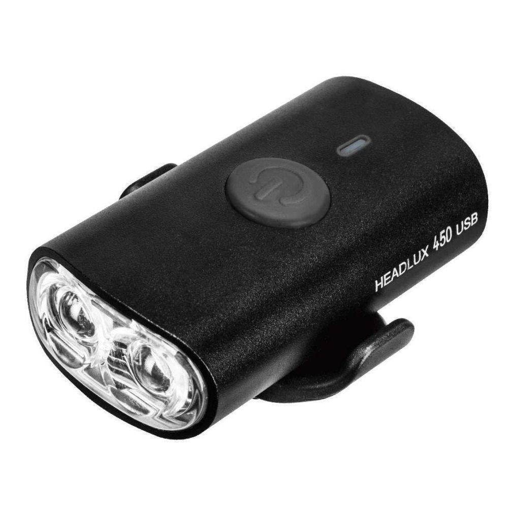 Фара пер.диод. Topeak HeadLux 450 USB, 4 функц., 940mAh, 450люм., черный., 73г